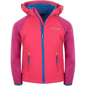 TROLLKIDS Rondane XT Zip Off Jacket Kids dark pink/light pink/blue